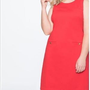 Career 9-5 Eloquii Red Dress